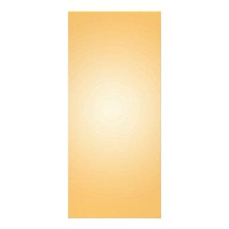 Modelo feito sob encomenda: Branco alaranjado radi 10.16 X 22.86cm Panfleto