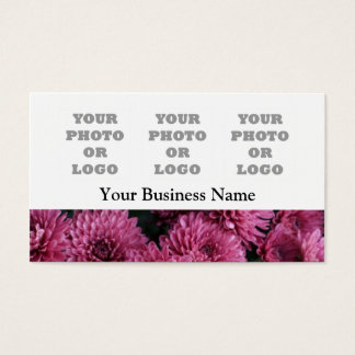 Modelo floral cor-de-rosa bonito do registro da cartão de visitas