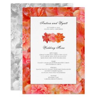 Modelo havaiano do menu do casamento do hibiscus convite 12.7 x 17.78cm