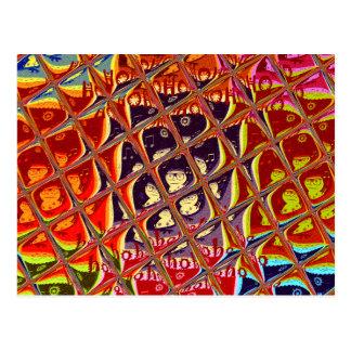 Modelo horizontal do cartão cartão postal