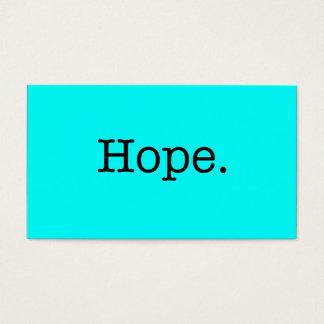 Modelo inspirado das citações azuis de néon da cartão de visitas