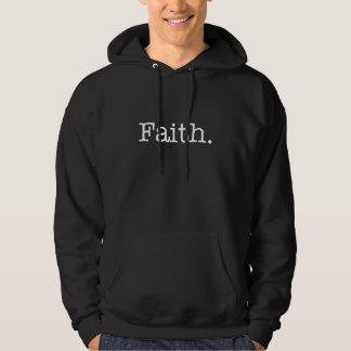 Modelo inspirado das citações da fé preto e branco moletom