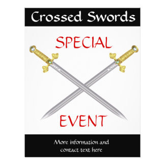 Modelo medieval cruzado do insecto das espadas panfletos personalizado