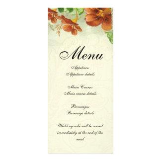 Modelo - menu 10.16 x 22.86cm panfleto
