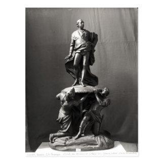 Modelo para o monumento de Louis XV Cartão Postal