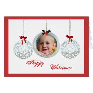 Modelo personalizado dos cartões de Natal da foto