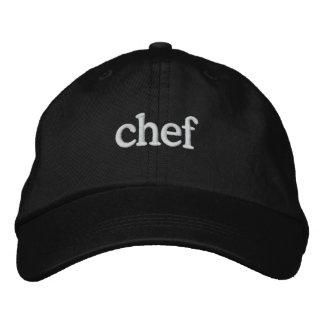 Modelo preto bordado básico do boné do cozinheiro