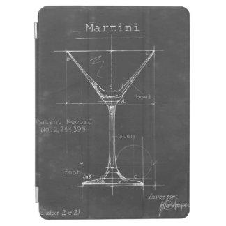 Modelo preto & branco do vidro de Martini Capa Para iPad Air