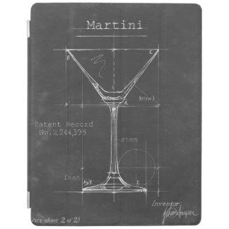 Modelo preto & branco do vidro de Martini Capa Smart Para iPad