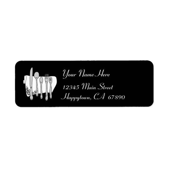 Modelo preto e branco da etiqueta de endereço da