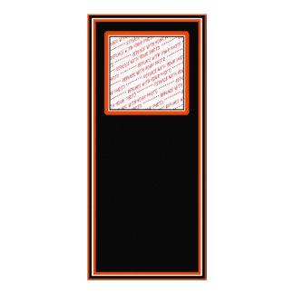 Modelo preto & laranja aparado da foto 10.16 x 22.86cm panfleto