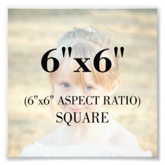 Modelo profissional da foto quadrado de 6 x 6