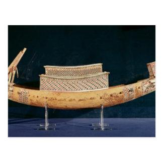 Modelo reduzido de um barco do túmulo cartão postal