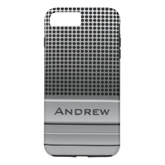 Modelo retro do nome do microfone capa iPhone 7 plus
