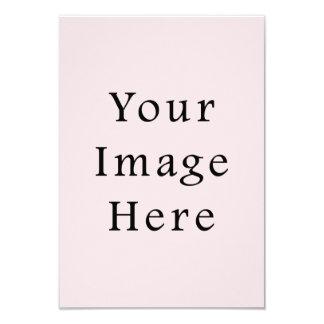 Modelo rosa pálido do vazio da tendência da cor do convite personalizado