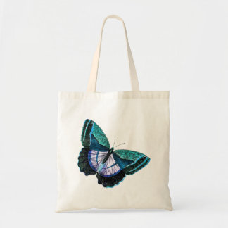 Modelo roxo azul colorido da borboleta do vintage bolsa tote