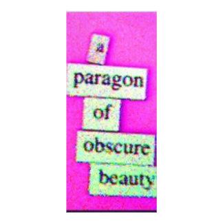 Modelo (roxo) panfleto informativo personalizado