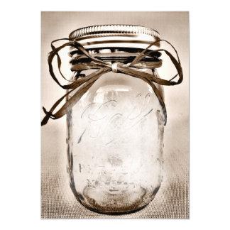 Modelo rústico do vazio do convite do frasco de