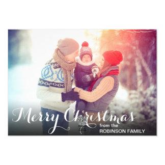 Modelo simples do cartão de Natal da foto de Convite Personalizado