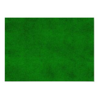 Modelo Textured escuro verde do pergaminho do Convite 12.7 X 17.78cm
