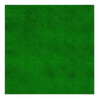 Modelo Textured escuro verde do pergaminho do Convite Quadrado 13.35 X 13.35cm