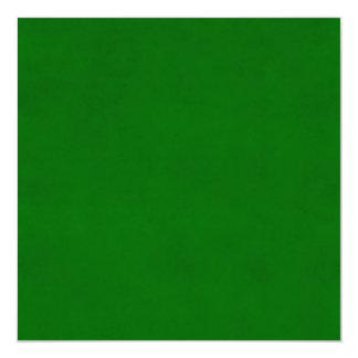 Modelo Textured verde da cor do pergaminho do Convite Quadrado 13.35 X 13.35cm