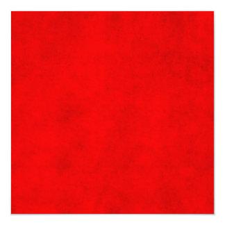 Modelo Textured vermelho da cor do pergaminho do Convite Quadrado 13.35 X 13.35cm