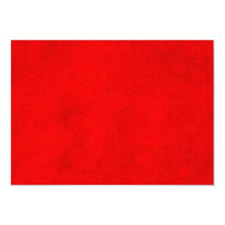 Modelo Textured vermelho da cor do pergaminho do Convite 12.7 X 17.78cm
