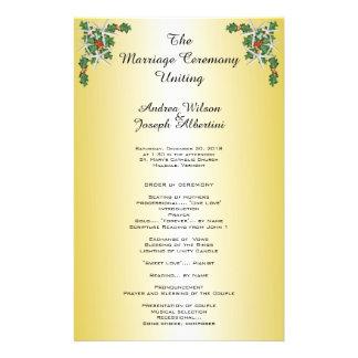 Modelo tropical da cerimónia de casamento do modelo de panfletos