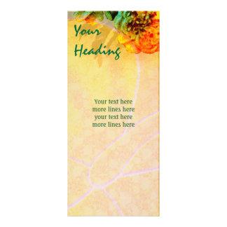 Modelo tropical do cartão da cremalheira das beira 10.16 x 22.86cm panfleto