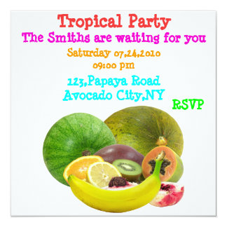 Modelo tropical do convite de festas