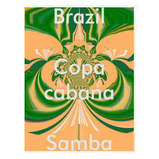 Modelo verde dourado vermelho do cartão de Brasil