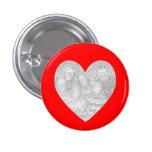 Modelo vermelho da foto do coração boton