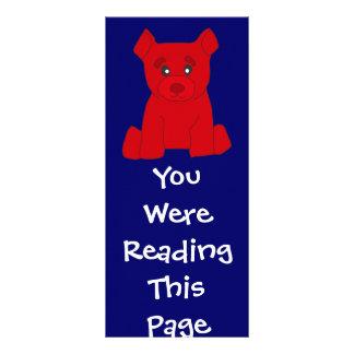 Modelo vermelho do marcador do urso 10.16 x 22.86cm panfleto