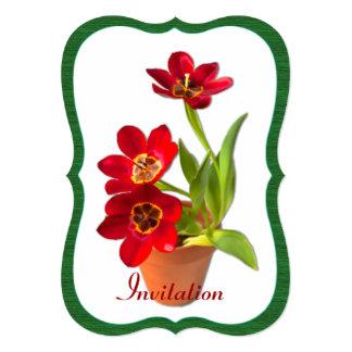 Modelo vermelho maduro Potted da fotografia das Convite Personalizados