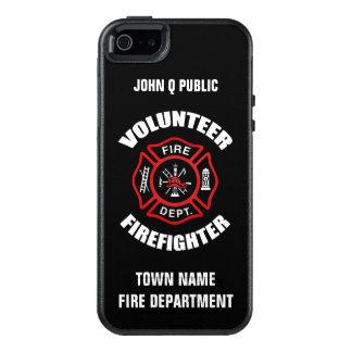 Modelo voluntário do nome do sapador-bombeiro