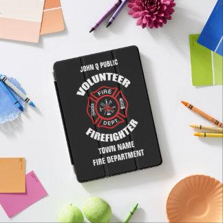 Modelo voluntário do nome do sapador-bombeiro capa para iPad pro