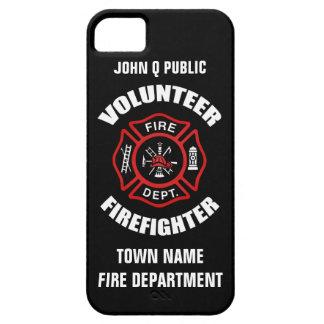 Modelo voluntário do nome do sapador-bombeiro capa para iPhone 5