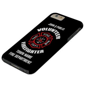 Modelo voluntário do nome do sapador-bombeiro capa tough para iPhone 6 plus
