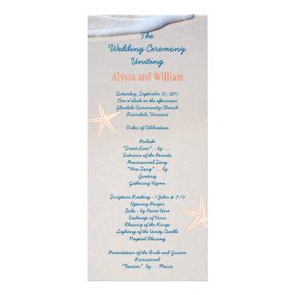 Modelos altos do programa do casamento da areia da 10.16 x 22.86cm panfleto