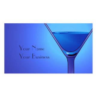 Modelos de cartão de negócios azuis do cocktail de modelo cartão de visita