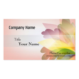 Modelos de cartão de negócios COLORIDOS da FLOR Cartões De Visitas
