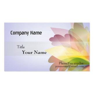 Modelos de cartão de negócios COLORIDOS da FLOR Modelo Cartoes De Visita