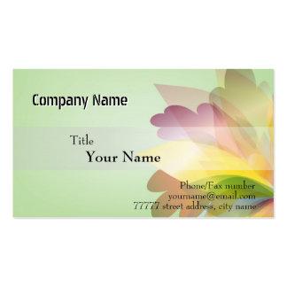 Modelos de cartão de negócios COLORIDOS da FLOR Cartao De Visita