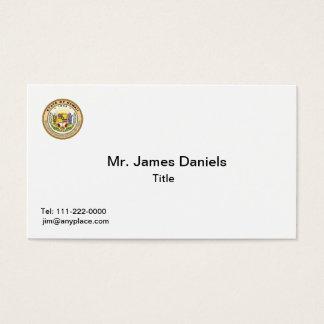 Modelos de cartão de negócios do selo do estado de