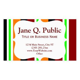 Modelos de cartão de negócios listrados verdes ala cartoes de visita