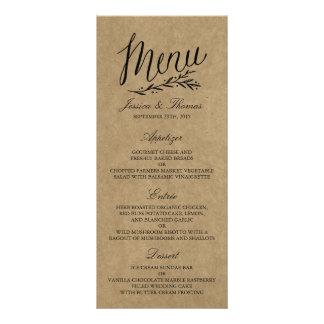Modelos elegantes do menu do casamento de Kraft