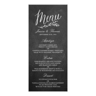 Modelos elegantes do menu do casamento do quadro