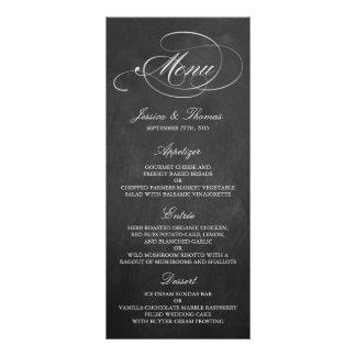 Modelos elegantes do menu do casamento do quadro 10.16 x 22.86cm panfleto