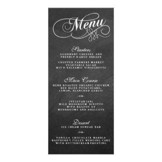 Modelos elegantes do menu do casamento do quadro panfleto personalizado